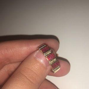 10k Ruby & diamond ring !